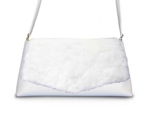 着せ替えショルダーバッグ「CHIPS」Marshmallow × Milk
