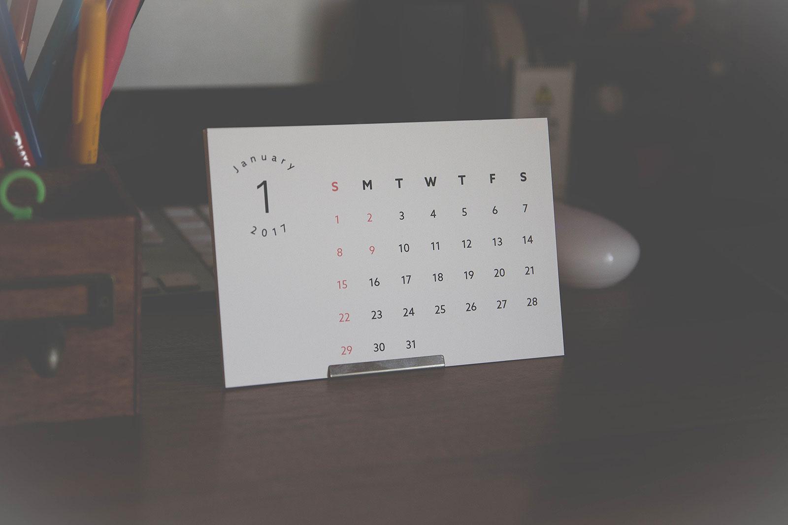 卓上 カレンダー 無料 ダウンロード 2019