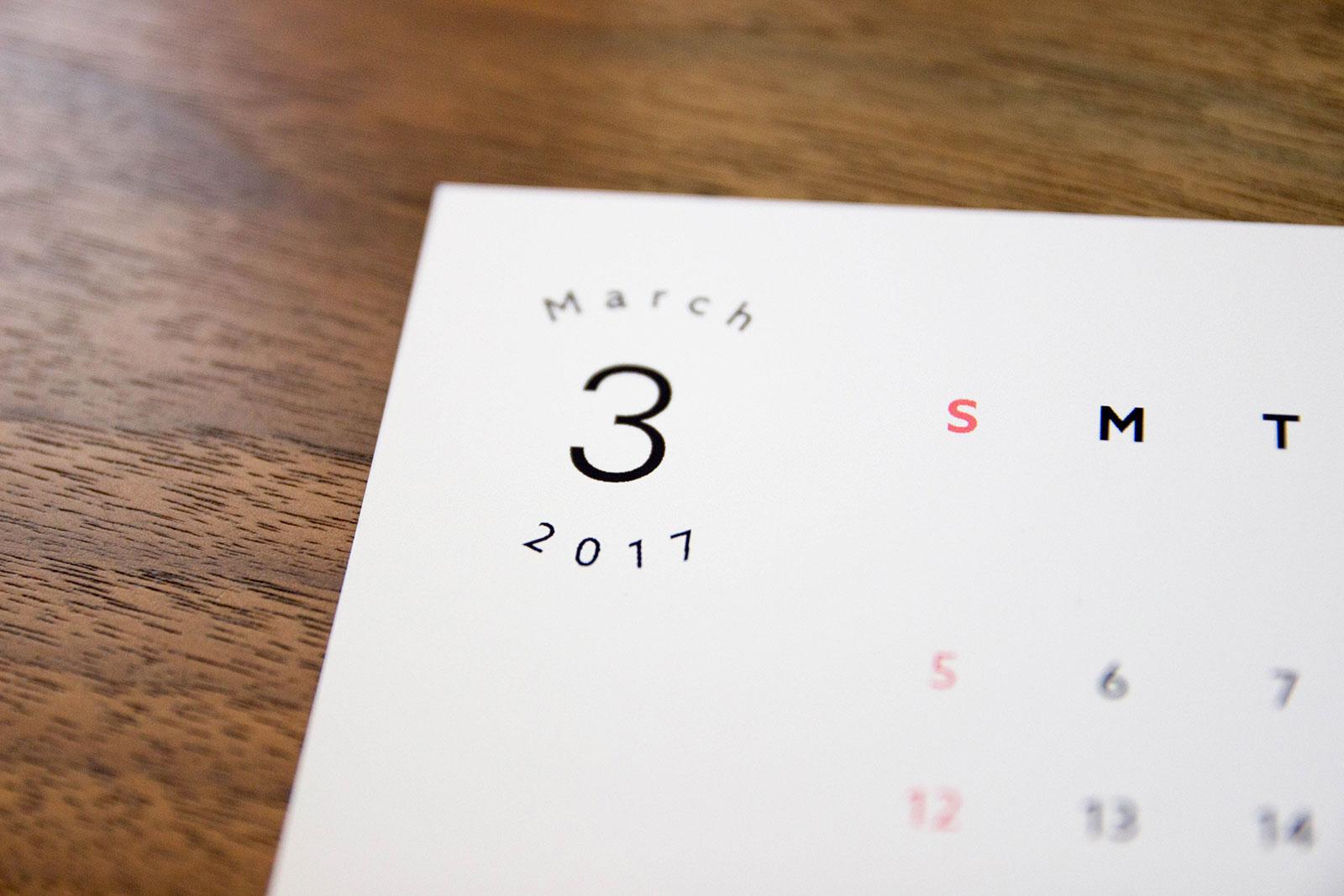 プリンターで作る 2017年卓上カレンダー無料ダウンロード quael bags