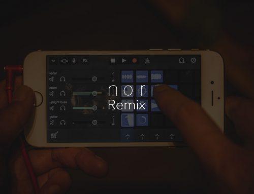 iPhoneのGarageBandで「nor」をリミックスしよう。